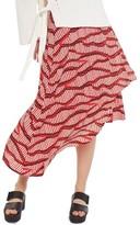 Topshop Women's Matchstick Print Midi Skirt