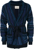 Laneus jacquard pattern knit cardigan