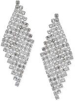 INC International Concepts Silver-Tone Crystal Mesh Drop Earrings, Only at Macy's