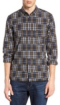 French Connection Men's Slim Fit Ikat Check Sport Shirt