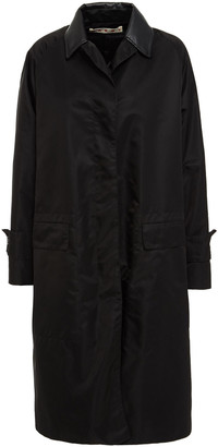 Marni Faux Leather-trimmed Coated-shell Coat