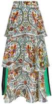 Etro Printed Tiered Midi Skirt