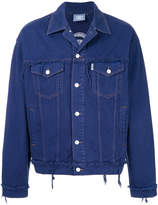 Andrea Crews distressed buttoned jacket