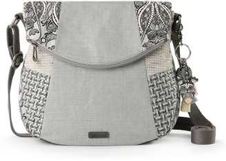 The Sak Sakroots Print Canvas Foldover Crossbody Bag
