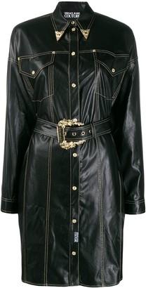 Versace Jeans Couture Cowboy Shirt Dress