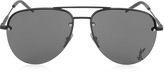 Saint Laurent Classic 11M Signature Metal Aviator Unisex Sunglasses