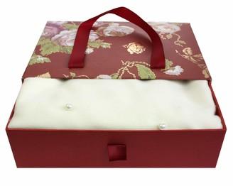 Emartbuy Super Soft Warm Cosy Pearls Shawl Scarf Stole Wrap in Gift Box Cream