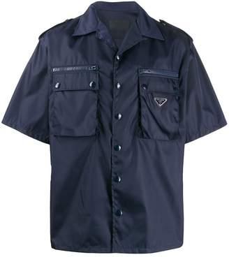 Prada boxy military shirt