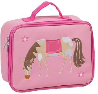 Olive Kids Horse Embroidered Pink Lunch Box for Boys and Girls