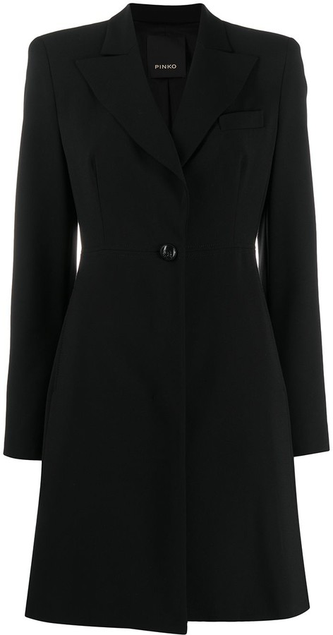 Pinko Single Breasted Tailored Coat