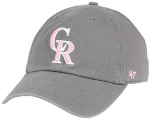'47 Colorado Rockies Dark Gray Pink Clean Up Cap