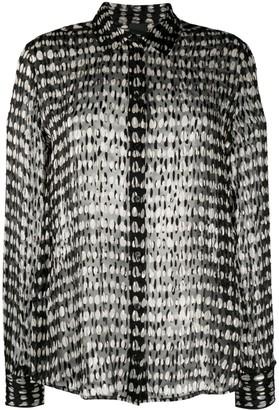 Pinko Long-Sleeved Sheer Layered Shirt