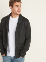 Old Navy Shawl-Collar Button-Front Sweater-Fleece Cardigan for Men
