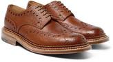 Grenson Archie Triple-welt Pebble-grain Leather Wingtip Brogues