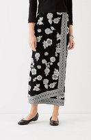J. Jill Printed Wrap-Style Knit Maxi Skirt