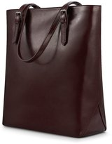 Kattee Lovely Ladies' Simple Design Cowhide Leather Tote Bag Handbag