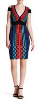 Wow Couture V-Neck Cold Shoulder Wavy Knit Dress