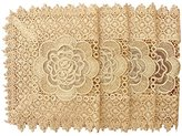 Simhomsen Gold Placemats Rectangle 12 By 18 Inch Set of 4