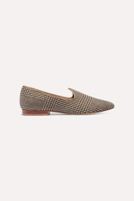 Giuliva Heritage Collection + Le Monde Beryl Venetian Prince Of Wales Checked Slippers - Brown