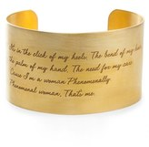 Dogeared Women's 'Legacy Collection - Phenomenal Women' Wrist Cuff