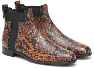 Tod's Exclusive to Mytheresa Snake-effect leather ankle boots