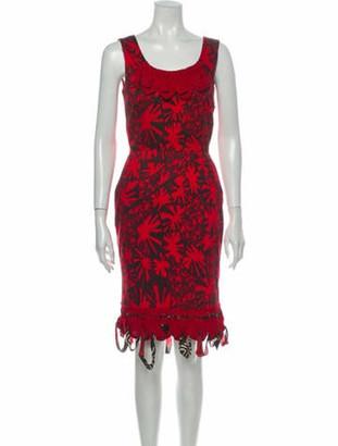 Oscar de la Renta 2008 Knee-Length Dress Red