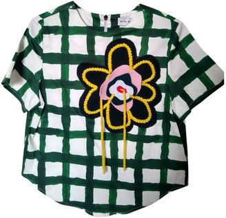 Mira Mikati Green Cotton Top for Women