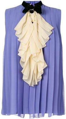 Gucci Embellished Sleeveless Blouse