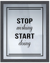 "PTM Images Stop & Start Framed Silkscreen Wall Art - 16.75"" x 20.75"""