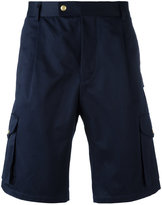 Moncler Gamme Bleu multi pockets logo patch shorts