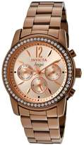 Invicta Women's Angel Brown Stainless Steel w/ White Cubic Zirconia