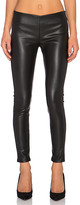 Velvet by Graham & Spencer Berdine Faux Leather Legging in Black. - size L (also in M,S,XS)