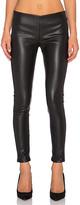 Velvet by Graham & Spencer Berdine Faux Leather Legging in Black. - size L (also in S,XS)
