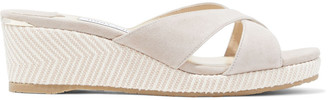 Jimmy Choo Almer 50 Suede And Canvas Mules