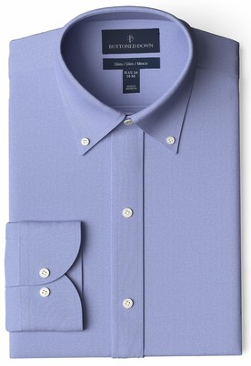 "Buttoned Down Slim Fit Solid Pocket Options Dress Shirt Blue) 16.5"" Neck 38"" Sleeve"
