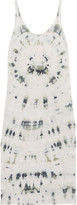 Raquel Allegra Tie-dyed cotton-blend jersey dress