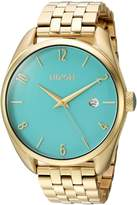 Nixon Women's 'Bullet' Quartz Stainless Steel Casual Watch, Color:Gold-Toned (Model: A4182626-00)