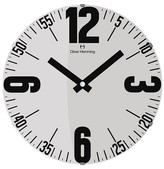 "Oliver Hemming Wall Clock with Bold Number and Minute Reader Dial (20"")"