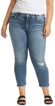 Silver Jeans Co. Trendy Plus Size Ripped Boyfriend Jeans