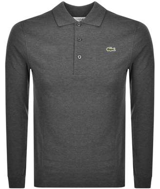 Lacoste Sport Long Sleeved Polo T Shirt Grey