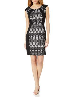 Ronni Nicole Women's Sleevless Lace Inset Sheath