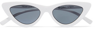 Le Specs Adam Selman The Last Lolita Cat-eye Acetate Sunglasses - White