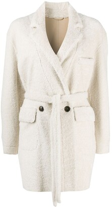 Simonetta Ravizza Belted Single-Breasted Coat