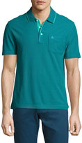 Original Penguin Blended Mearl Knit Polo Shirt, Blue