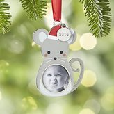 Crate & Barrel Mouse Photo Frame Ornament with 2016 Charm