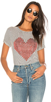 Lauren Moshi Limp Stud Heart Tee in Charcoal