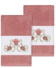 Linum Home Bella 2-Pc. Embroidered Turkish Cotton Hand Towel Set Bedding