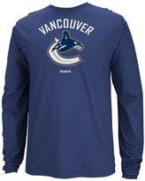 Reebok Vancouver Canucks NHL Jersey Crest Long Sleeve Men's T-Shirt