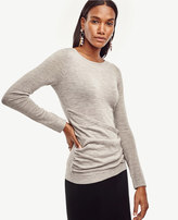 Ann Taylor Petite Draped Extrafine Merino Wool Sweater