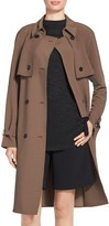 St. John Soft Drape Suiting Trench